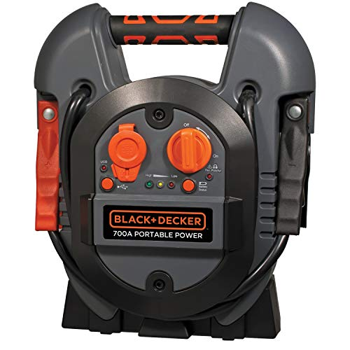 BLACK+DECKER J312B Power Station Jump Starter: 600 Peak/300 Instant Amps, USB Port, Battery Clamps