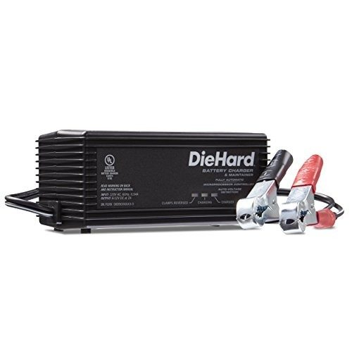 DieHard 71219 2 Amp 6/12V Shelf Smart Battery Charger and 2A Maintainer