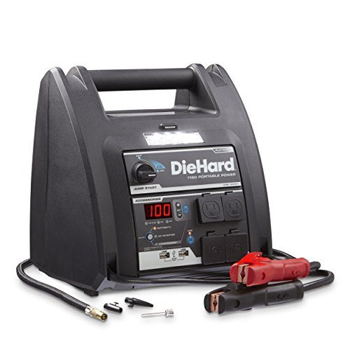 DieHard 71688 1150 Peak Amp 12V Jump Starter with USB/12V Portable Power Ports and 100PSI Air Compressor