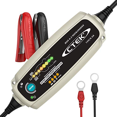 CTEK 56-959 Silver MUS 4.3 TEST & CHARGE 12 Volt Fully Automatic Charger and Tester